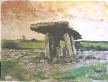 Dolmen of Grainne (Schilderij Erin Langley, USA)
