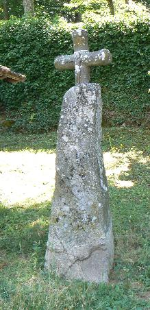 Christianized standing stone, France