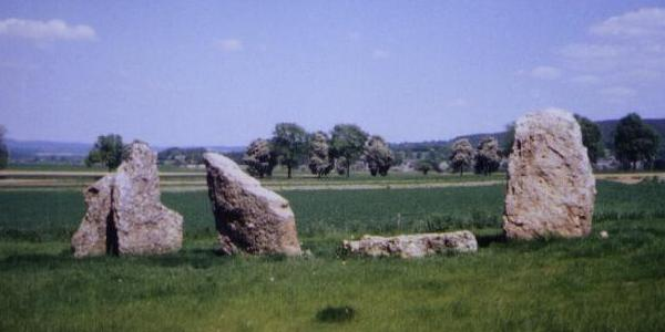 Standing Stones near the southern dolmen at Oppagne (Wéris)